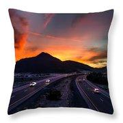 Sunset Over The Soda Mountains Throw Pillow
