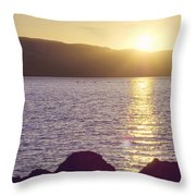 Sunset Over The Straits Throw Pillow by Cindy Garber Iverson