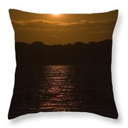 Sunset Over The Thames River Throw Pillow