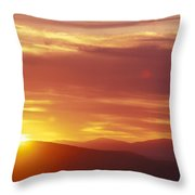 Sunset Over The White Mountains In New Throw Pillow