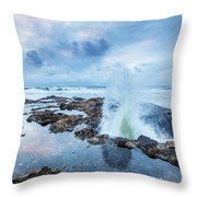 Sunset Over Thor's Well Throw Pillow
