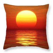 Sunset Over Tranqual Water Throw Pillow