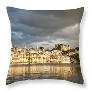 Sunset Over Udaipur Throw Pillow