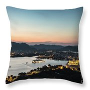 Sunset Over Udaipur In India Throw Pillow