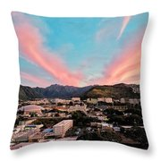 Sunset Over Uh Manoa Throw Pillow
