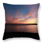 Sunset Over Wachusett Reservoir  Throw Pillow