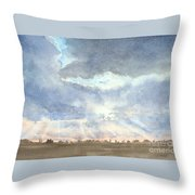Sunset Over Wharton County Throw Pillow