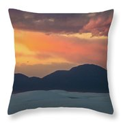 Sunset Over White Sands Throw Pillow
