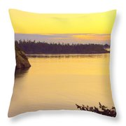 Sunset Over Widbey Island 8x12 Throw Pillow