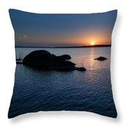 Sunset Over Wilson Lake Throw Pillow