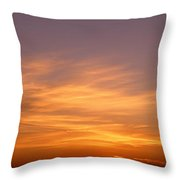 Sunset Ovr Lake Michigan Chicago Il Usa Throw Pillow