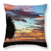 Sunset Palm Florida Throw Pillow