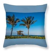 Sunset Palms Delray Beach Florida Throw Pillow