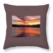 Sunset Patterns Throw Pillow