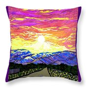 Sunset Pearblossom Highway Throw Pillow