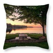 Sunset Picnic Throw Pillow