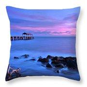 Sunset Pier Throw Pillow