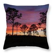Sunset Pines Throw Pillow