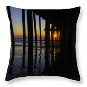 Sunset Pismo Beach Throw Pillow