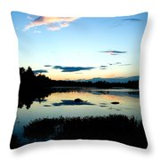 Sunset Pond Throw Pillow