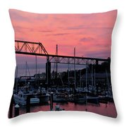 Sunset Port Throw Pillow