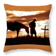 Sunset Prayer Throw Pillow