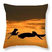 Sunset Race Throw Pillow