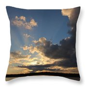 Sunset Rays On The Shore Throw Pillow