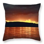 Sunset Red Throw Pillow
