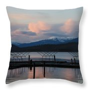 Sunset Reflecting Off Priest Lake Throw Pillow