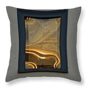 Sunset Reflection On Small Window Throw Pillow