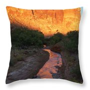 Sunset Reflection - Fremont River Throw Pillow
