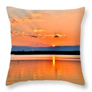 Sunset Reflections 2 Throw Pillow