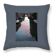 Sunset Reflections In Venice Throw Pillow