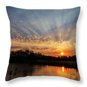 Sunset Refuge Throw Pillow