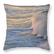 Sunset Ribbons Throw Pillow