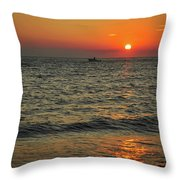 Sunset Ride Cape May Point Nj Throw Pillow