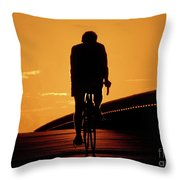 Sunset Ride Throw Pillow