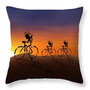 Sunset Riders Throw Pillow