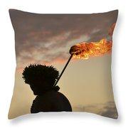 Sunset Ritual Throw Pillow