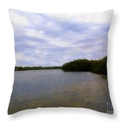 Sunset River Throw Pillow