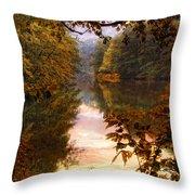 Sunset River View Throw Pillow