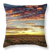 Sunset Road Throw Pillow