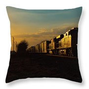 Sunset Route Sunset Throw Pillow