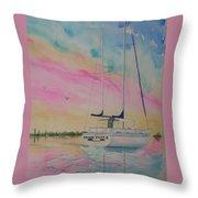Sunset Sail 3 Throw Pillow