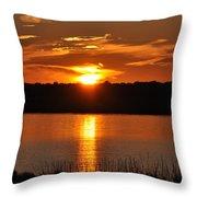 Sunset Salisbury Mass Throw Pillow