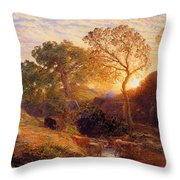 Sunset Throw Pillow by Samuel Palmer