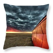 Sunset Saskatchewan Canada Throw Pillow