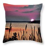 Sunset Scene Throw Pillow