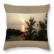 Sunset Scenic Throw Pillow